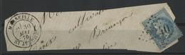 """N° 29 B Obl GC """"2240/B"""" + C. à D. (T 17) """"MARSEILLE St JEROME 30/5/70"""" Sur Un Fragment, Indice 15 = 160 € Sur Lettre. - 1849-1876: Période Classique"""