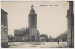 D61 - BEAUVAIN - PLACE DE L'EGLISE - 2 Enfants - Chien - Aubergiste - Other Municipalities