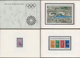 "Bund: Minister Book -  Ministerbuch - Ministermotivbuch MOB 1972/1 "" Olympiade München 1972 "" Rarität !!  X - Storia Postale"