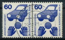 BERLIN DS UNFALLV Nr 409 Zentrisch Gestempelt WAAGR PAAR X8F93E6 - Gebruikt