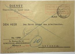 Dienstbrief Dordrecht - Leipzig 1944 - Cartas