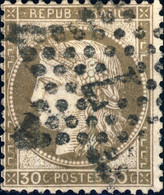 """FRANCE - 1871-75 - N°56 30c Brun - Oblitéré Étoile """" 7 """" - 1871-1875 Ceres"""