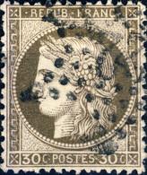 """FRANCE - 1871-75 - N°56 30c Brun Foncé - Oblitéré étoile """" 22 """" - 1871-1875 Ceres"""