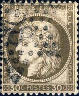"""FRANCE - 1871-75 - N°56 30c Brun - Oblitéré étoile """" 28 """" - 1871-1875 Ceres"""