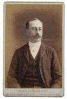 Photo Cabinet - Ad. Braun (Paris) - A. De MUN - Années 1880 / 1890 - Personalità