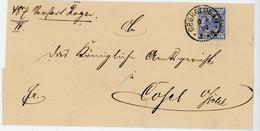 ALLEMAGNE POLOGNE LST 1892 OBERGLOGAU FRAPPE SUPERBE SUR LETTRE POUR COSEL - Covers & Documents