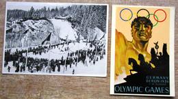 DR 4 Belege (Sammelbilder,Postkarte,Brief) Olympia 1936 - Postwaardestukken