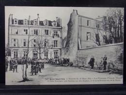 751166 . PARIS . MONTMARTRE . JOURNEE DU 18 MARS 1871 . LES GENERAUX CLEMENT THOMAS ET JULES LECOMTE SONT FUSILLES - Autres
