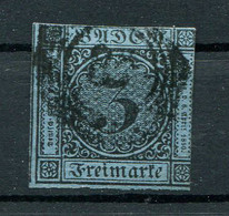 Baden: 3 Kr. MiNr. 8 1853 Gestempelt / Used / Oblitéré - Baden