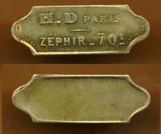 JETON // PARIS // H.D ZEPHIR // Soixante Dix Centimes - Monetary / Of Necessity