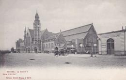 Belgique Flandre Occidentale  Brugge La Station ( Gare ) Et La Poste    Précurseur - Brugge