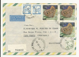 Cover Brazil São Paulo 1980 Registered - Cartas