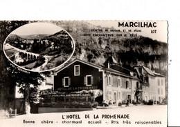 """MARCILHAC.  L'HOTEL DE LA PROMENADE. Médaillon """"Vue Générale"""". Phot. Véritable. ETAT NEUF. Brillant. - Other Municipalities"""