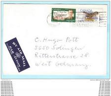 KANADA CANADA Brief Cover 15.08.1969 Lettre 428 439 John Mc Crae Dichter - Vögel Tiere - SST Slogan Cachet (23639) - Briefe U. Dokumente
