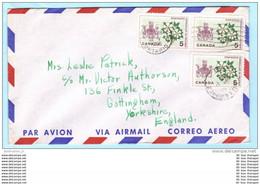 KANADA CANADA Brief Cover 22.05.1965 Lettre 367 (3er) Wappen Pflanzen Blumen (23622) - Briefe U. Dokumente