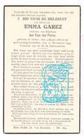DP Emma Garez ° Ooike Wortegem-Petegem 1868 † 1944 X Jan Van Der Perre - Andachtsbilder