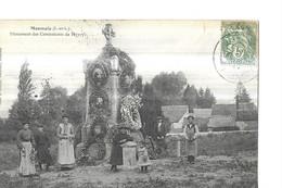 MONNAIE   MONUMENT DES COMBATTANTS  DE 1870 / 71 PERSONNAGES DEVANT       DEPT 37 - Monnaie