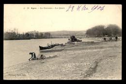 47 - AGEN - LA GARONNE - LES QUAIS - LAVANDIERE - LAVEUSE - LESSIVE - Agen