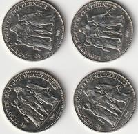 FRANCE - LOT DE 4 PIECES DE 5 FRANCS HERCULE 1996 - J. 5 Francs