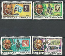 """Centrafrique YT 373 à 376 """" Sir Rowland Hill """" 1979 Neuf** - Central African Republic"""