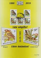 A5 Souvenir 1ste Uitgifte - 1985-.. Vogels (Buzin)