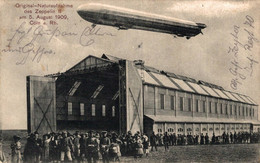 78136- Orginal Aufnahme Des Zeppelin II.1909 In Köln Am Rhein - Luchtschepen