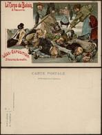 Carte Postale - Liège Exposition (couleur) : Le Corps Du Balais à L'oeuvre. Neuve - Liege