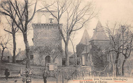SAINT LAZAREE Près Terrasson - Le Château Et L'Eglise - Très Bon état - Otros Municipios