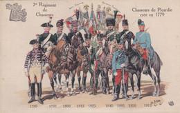 7e Régiment De Chasseurs Chasseurs De Picardie Créé En 1779 - Uniforms