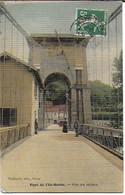 Lyon - Pont Le L'Ile Barbe :pilier Du Milieu ( Jolie Carte Façon Toile) - Lyon 9