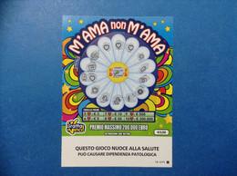 ITALIA BIGLIETTO LOTTERIA GRATTA VINCI USATO € 3,00 M'AMA NON M'AMA LOGO STELLA EMBLEMA REPUBBLICA ITALY LOTTERY TICKET - Billetes De Lotería