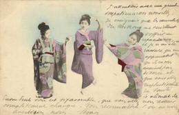 3 Geishas Dansant Colorisée RV Beau Timbre 10 Indochine Cachets SAIGON CENTRAL  COCHINCHINE  PNOMPENH CAMBODGE - Zonder Classificatie