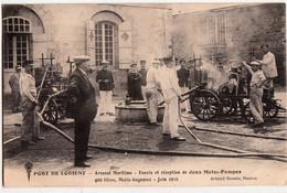 LORIENT-POMPIERS-ARSENAL MARITIME-ESSAIS ET RECEPTION DE DEUX MOTOS POMPES - Lorient