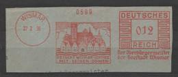 Deutsches Reich Briefstück Mit Freistempel Wismar 1936 Besucht Wismar Ostsee Mit Seinen Domen - Poststempel - Freistempel