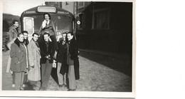 PHOTOGRAPHIE AUTOCAR ROUSSEL PROVINS NOVEMBRE 1949 - Automobili