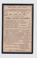 BEGIJN MARIA DUJARDYN  MEYHEM 1876     BEGIJNHOF GENT 1915 - Overlijden