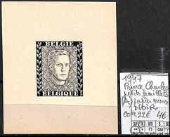 [839235]TB//**/Mnh-c:22e-Belgique 1947 - Prince Charles, Petits Feuillets (A) Papier Mince, NOIR, Familles Royales, SNC - Erinofilia