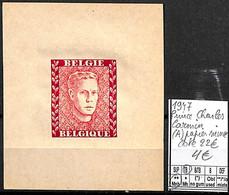 [839240]TB//**/Mnh-c:22e-Belgique 1947 - Prince Charles, Carmin (A) Papier Mince, Familles Royales, SNC - Erinofilia