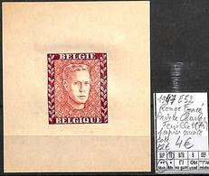 [839245]TB//**/Mnh-c:22e-Belgique 1947 - E52, Rouge Foncé, Princ Charles, Feuillet (A) Papier Mince, Familles Royales, S - Erinofilia