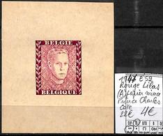 [839246]TB//**/Mnh-c:22e-Belgique 1947 - E52, Rouge Lilas (A) Papier Mince, Prince Charles, Familles Royales, SNC - Erinofilia