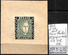 [839247]TB//**/Mnh-c:22e-Belgique 1947 - E52, Vert, Prince Charles (A) Papier Mince, Familles Royales, SNC - Erinofilia