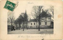 - Indre Et Loire -ref-B42- Perrusson - La Place - Eglise Du 13e Siècle - Pourtour Cadre - - Autres Communes