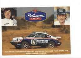 26710 - Paris Dakar 1984 Metge Et Lemoyne Vainqueurs Du Rallye Sur Rothmans-Porsche - Rally Racing