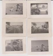 Lot De 12 Photos Originales  D'arcila  Le15/08/1951 Enfant Homme Femme à La Plage - Lugares