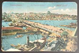 FD2 - Turkey Early 20th Century Very Beautiful Postcard Of Galata Bridge - Turkey