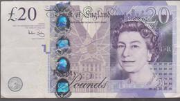 BILLET BANK OF ENGLAND -  TWENTY POUNDS - 2004 - 10 Schillings