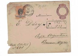 Porto Alegre (Brésil) => Buenos-Ayres (Argentine)  Recomandé. 1897. Expéditeur A. Barbedo - Briefe U. Dokumente