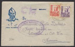 GUERRE D'Espagne : Enveloppe Afrt Avec 30c +20c Oblt CàD + Cachet Vaguemestre BATALLON DE TRABAJADORES + CM - 1931-50 Cartas