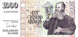 ICELAND 1000 KRONUR MAN FRONT & BUILDING BACK DATED 22-05-2001 VF P.60 READ DESCRIPTION CAREFULLY !!! - Iceland