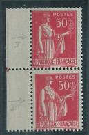 [42] Variété : N° 283 Type Paix Type I Et Type III Se Tenant ** - Variétés: 1931-40 Neufs